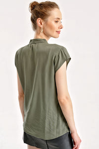 Women's Plain Khaki Shirt
