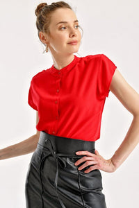 Women's Short Sleeves Red Shirt