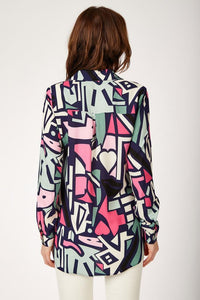 Women's Graphic Pattern Viscose Shirt