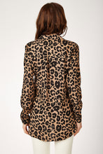 Load image into Gallery viewer, Women's Leopard Pattern Viscose Shirt