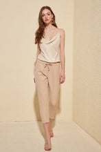 Load image into Gallery viewer, Women's Tie Waist Beige Pants
