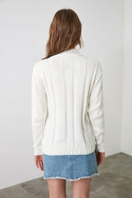 Load image into Gallery viewer, Women's Ecru Tricot Sweater