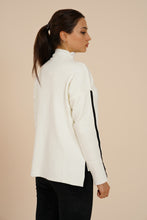 Load image into Gallery viewer, Women's Turtleneck White Sweater