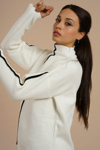 Women's Turtleneck White Sweater