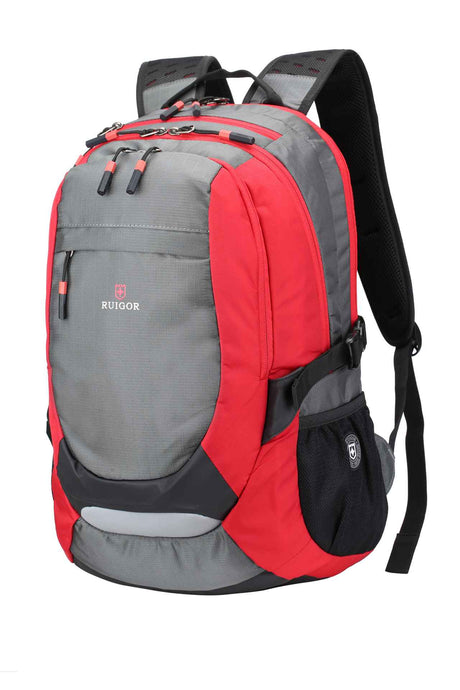RUIGOR ACTIVE 29 Laptop Backpack Red Grey - Unique Style