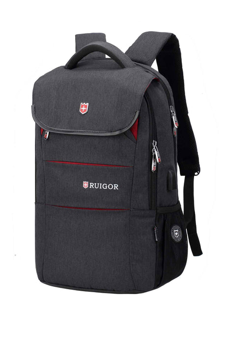 RUIGOR CITY 64 Laptop Backpack Dark Grey - Unique Style