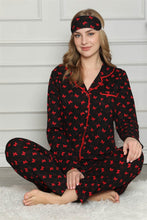 Load image into Gallery viewer, Women's Long Sleeves Button Cotton Pajama Set