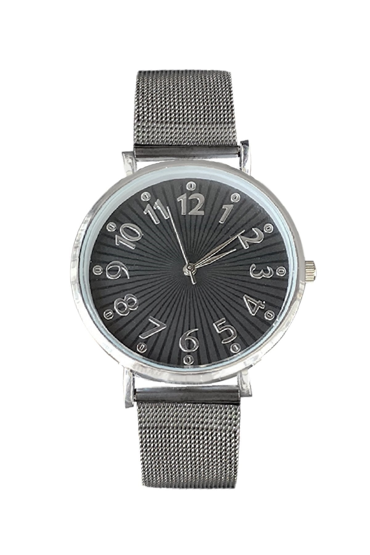 Unisex Anthracite Straw Cord Round Case Metal Watch