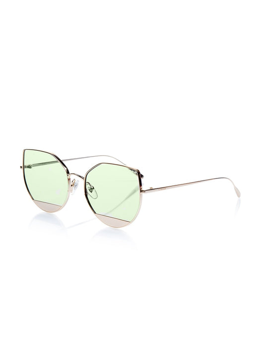 Women's Metal Frame Sunglasses - Unique Style