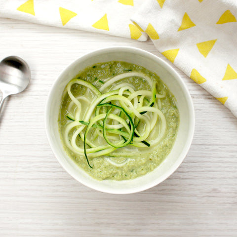 Trio of Green Zoodle Soup