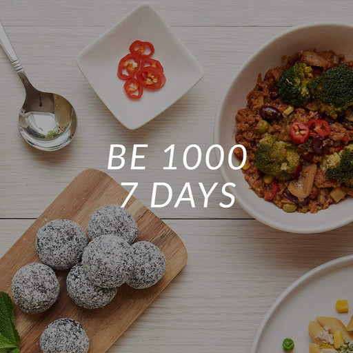 Be 1000 | 1000 Calories  | 7 Days <br> (Breakfast, Lunch, Entree, Dinner & 1 x Snack/Day)