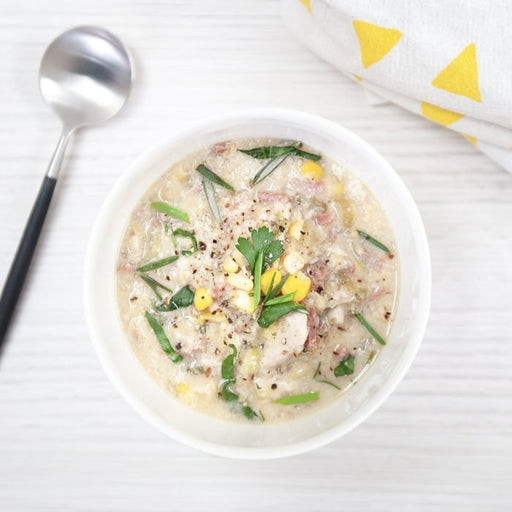 Chunky Chicken, Ham & Sweet Corn Soup (GF)