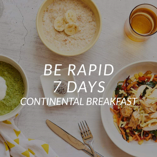 Be Rapid | 7 Days | Continental Breakfast <br>(7 Serve Breakfast Cereal, Lunch, Dinner & 1 x Snack/Day)