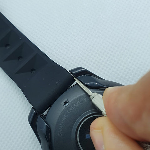 Position Watch Tool Into Place To Remove Strap