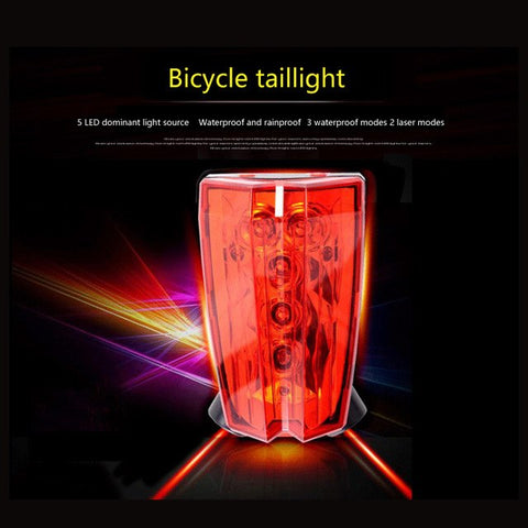 Bike Rear Light With Laser Bike Logo | Worldwide Shop