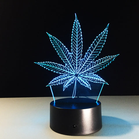 Image of Maple Leaf 3D Night Light With 7 Colours