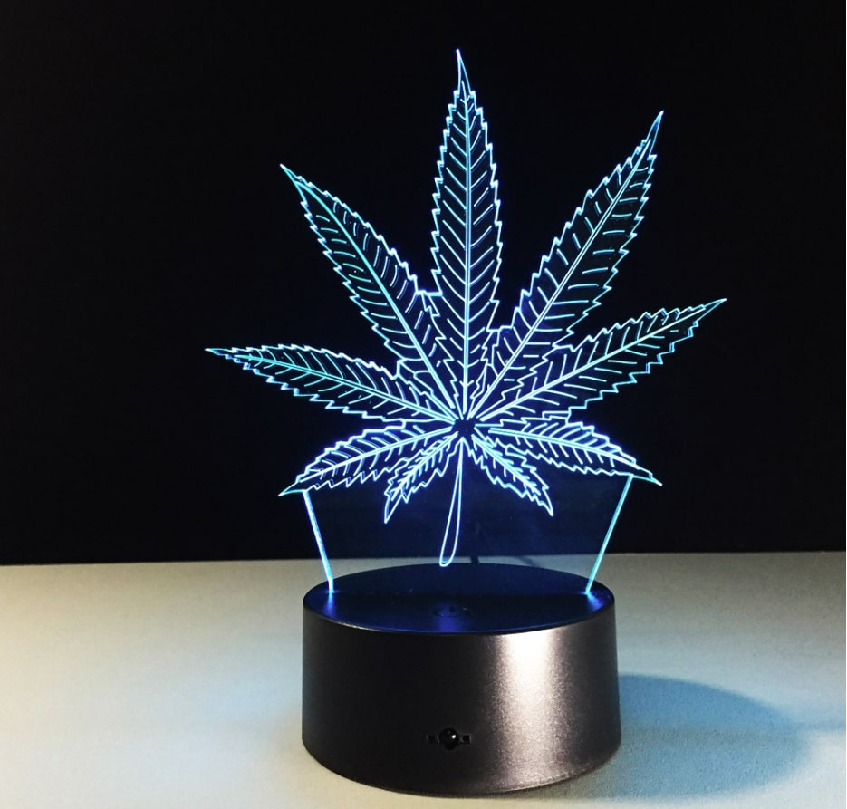Maple Leaf 3D Night Light With 7 Colours