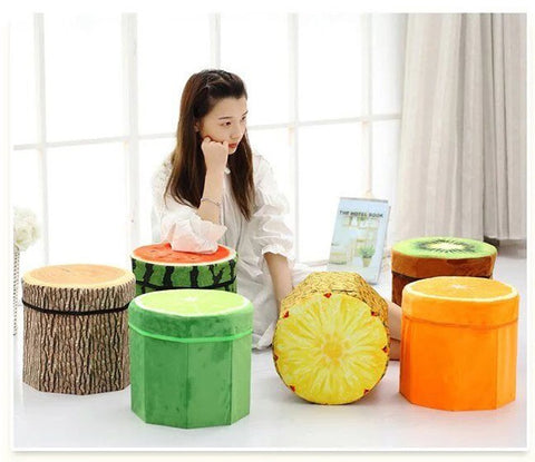 Image of Fruit Stool With Storage