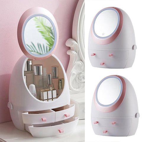 Image of Makeup Organizer With LED Mirror