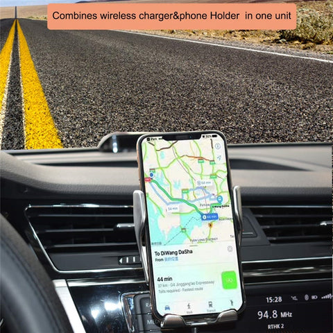 Car Mobile Holder With Wireless Charger