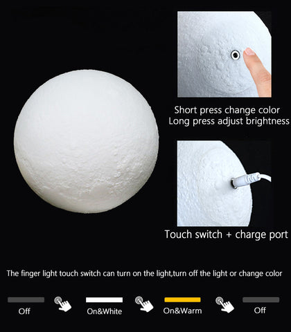Image of Enchanting 3D Moonlight Touch Lamp by WorldWideShop