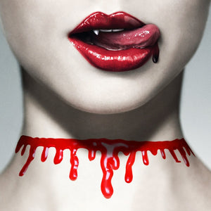 Blood Drip Choker Necklace
