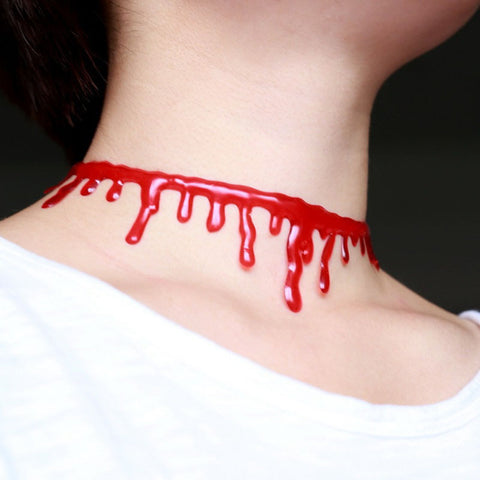 Image of Blood Drip Choker Necklace