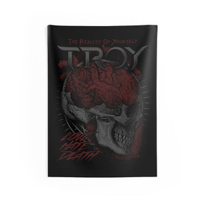TROY Love Hate Death Indoor Wall Tapestries