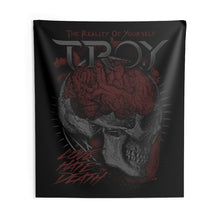 Load image into Gallery viewer, TROY Love Hate Death Indoor Wall Tapestries