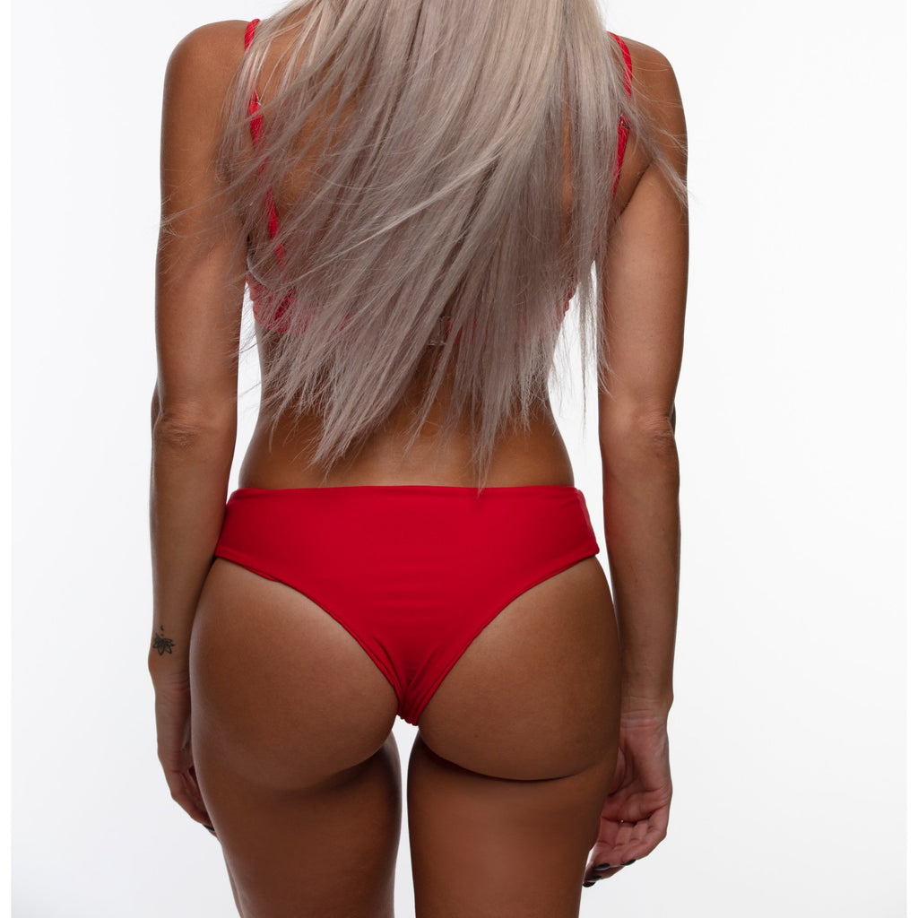 CASEY High Rise Bottoms - Red