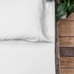 Queen - White Luxury 100% Organic Bamboo Bed Sheet Sets