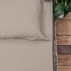 Queen - Latte Luxury 100% Organic Bamboo Bed Sheet Sets