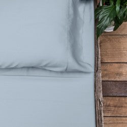 Double - Misty Blue Luxury 100% Bamboo Bed Sheet Sets
