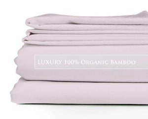 Queen - Violet Blush Signature Collection Luxury 100% Organic Bamboo Bed Sheet Sets
