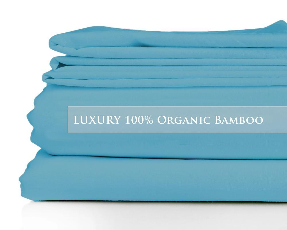 Queen - Great Barrier Reef Luxury Signature Collection 100% Organic Bamboo Bed Sheet Set