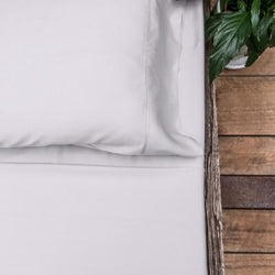 Queen - Silver Mist Luxury 100% Organic Bamboo Bed Sheet Sets