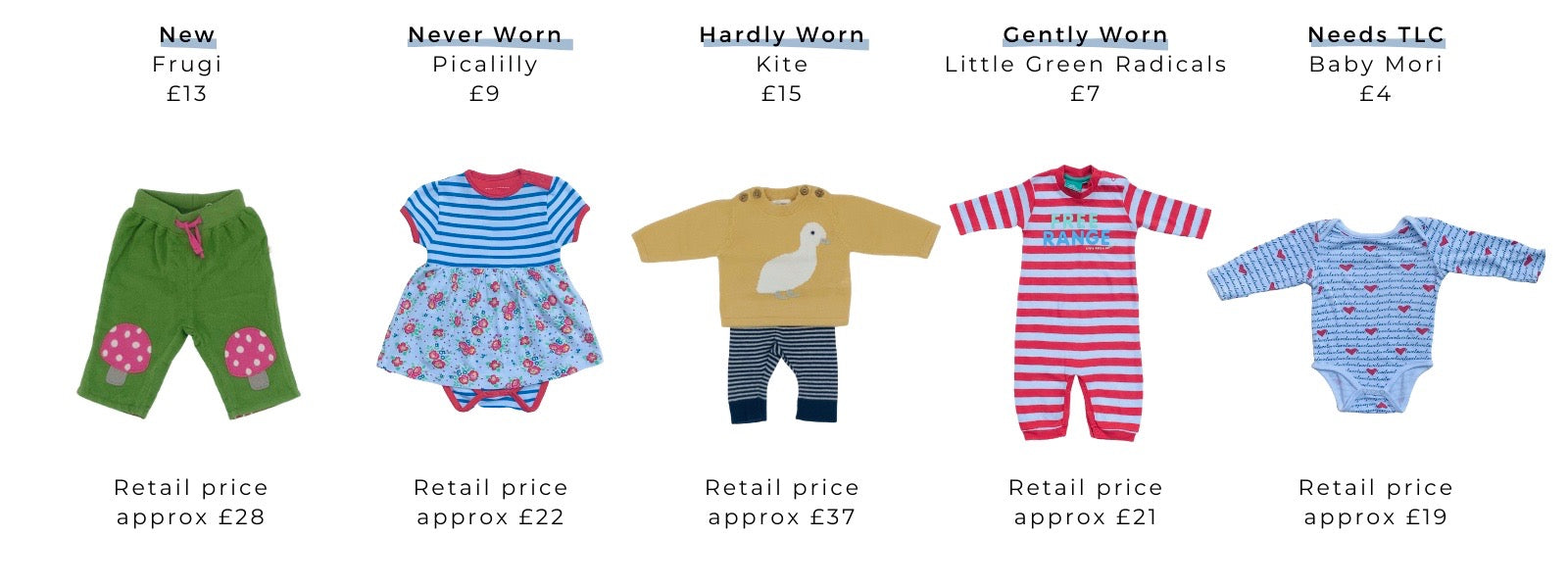 Eco Mama & Babe sells secondhand clothes for babies