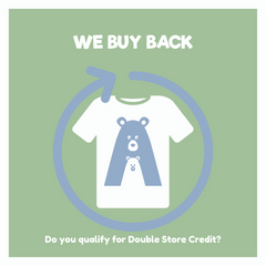 We Buy Back pre-loved clothes purchased from Eco Mama & Babe and other stores or websites.