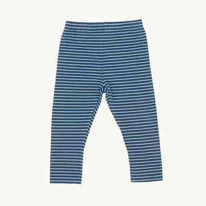 Gently Worn John Lewis blue striped leggings size 9-12 months