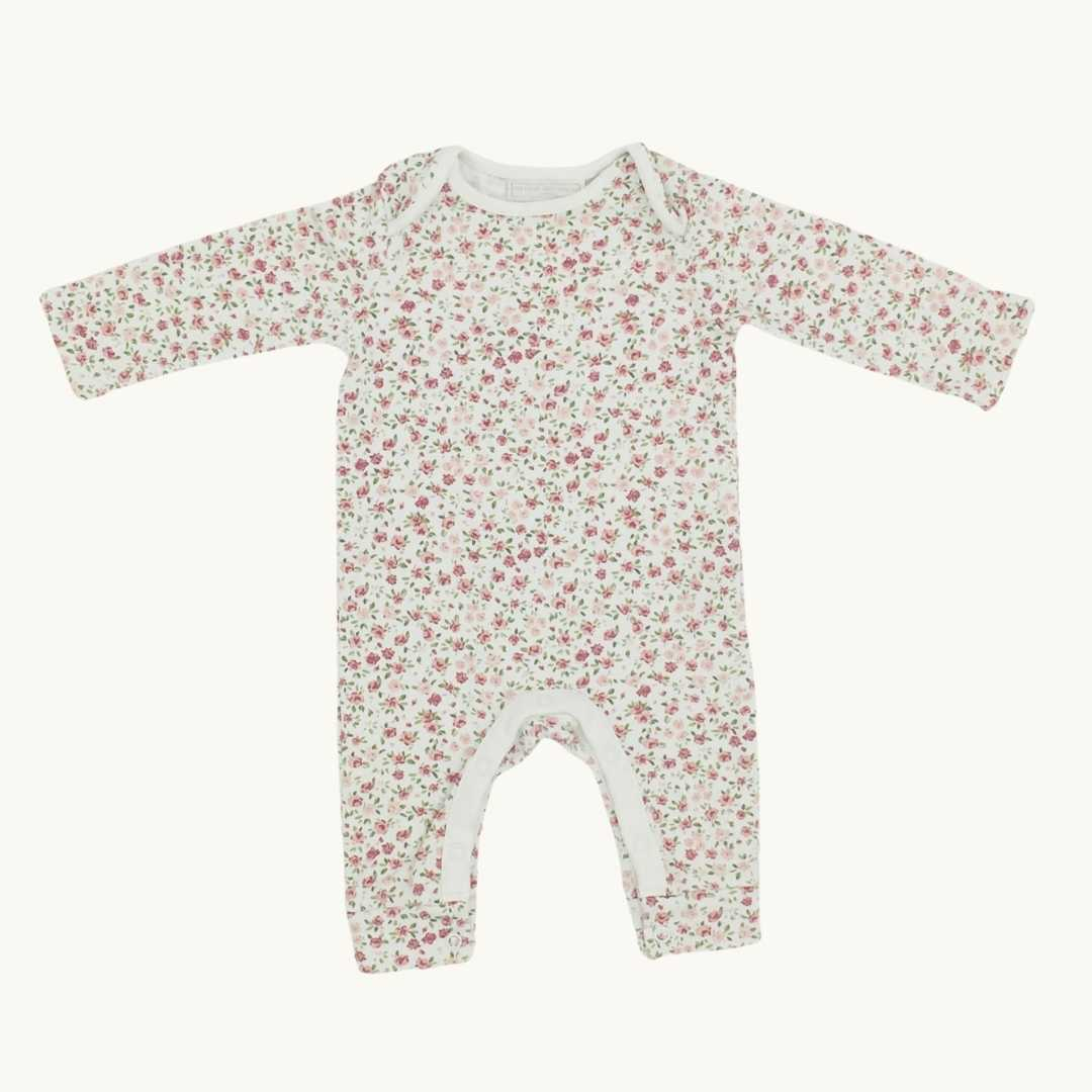 Hardly Worn The White Company white flower romper size 3-6 months