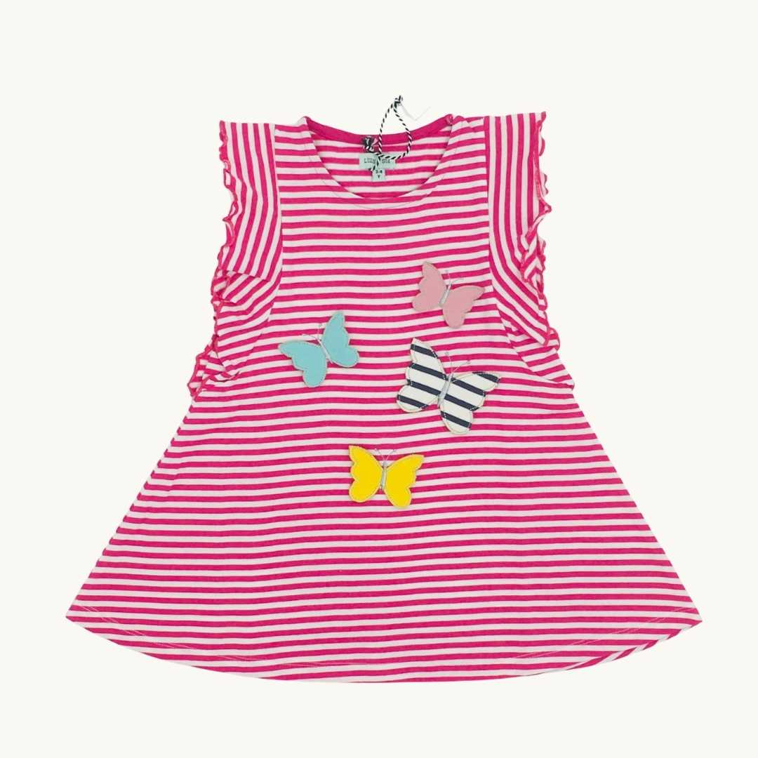 New Lilly & Sid striped butterfly dress size 3-4 years