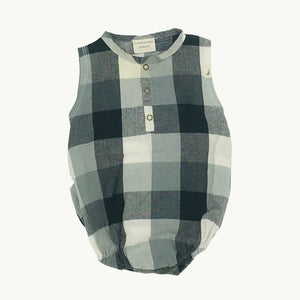 Gently Worn Turtledove London black checked bubblesuit size 3-6 months