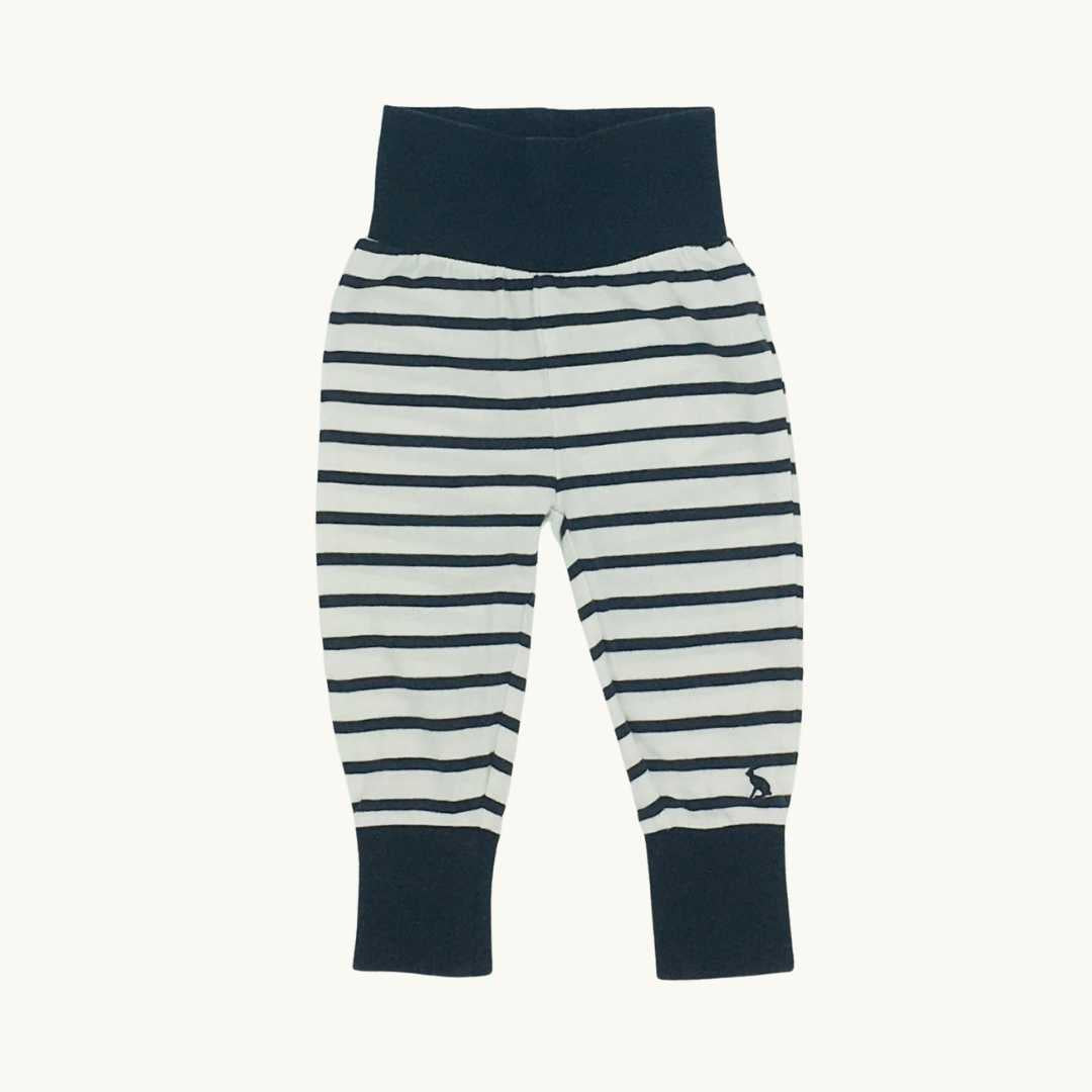 Gently Worn Joules navy striped leggings  size 3-6 months