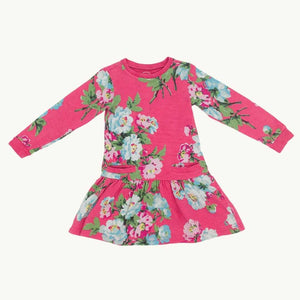 Gently Worn Joules pink flower dress size 4-5 years