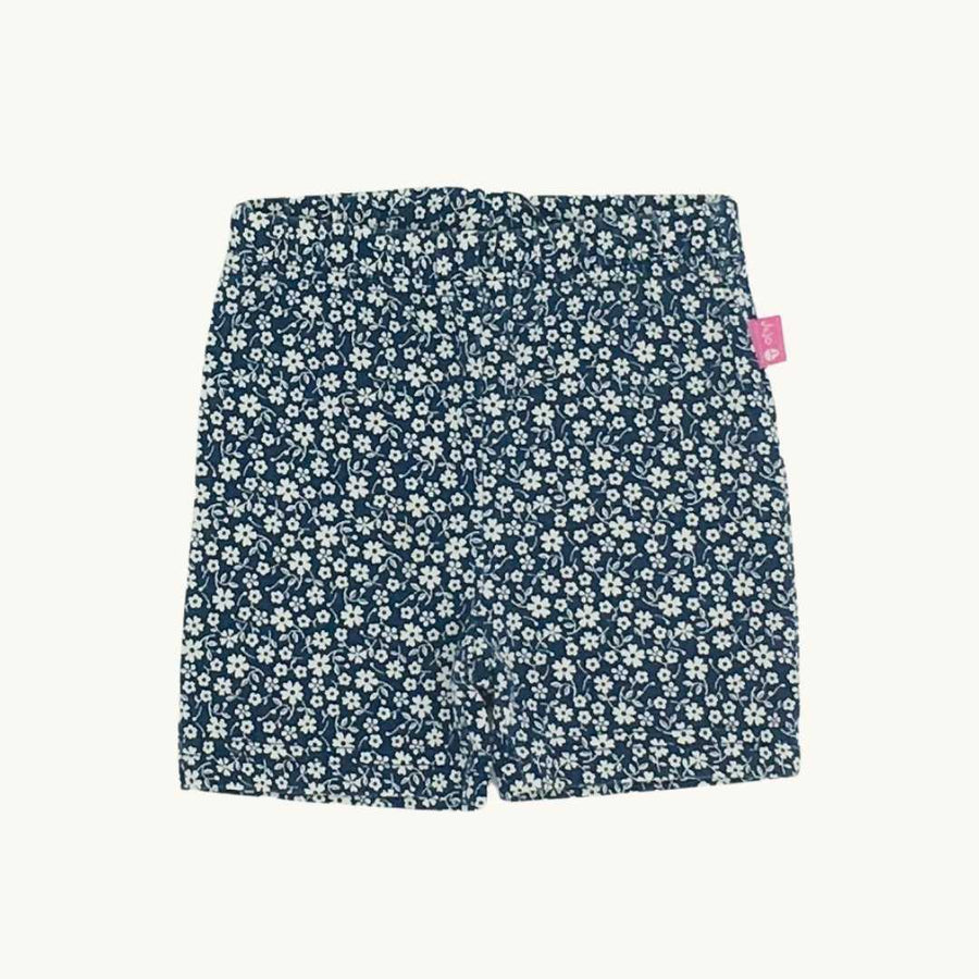 Hardly Worn Jojo Maman Bebe navy flower short leggings size 6-12 months