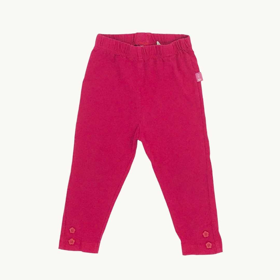 Hardly Worn Jojo Maman Bebe bright pink leggings size 6-12 months