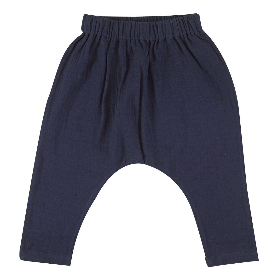 Muslin baggy pants in navy
