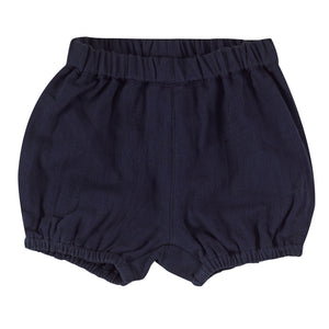 Muslin bloomers in navy