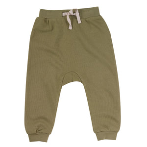 Jersey joggers in olive