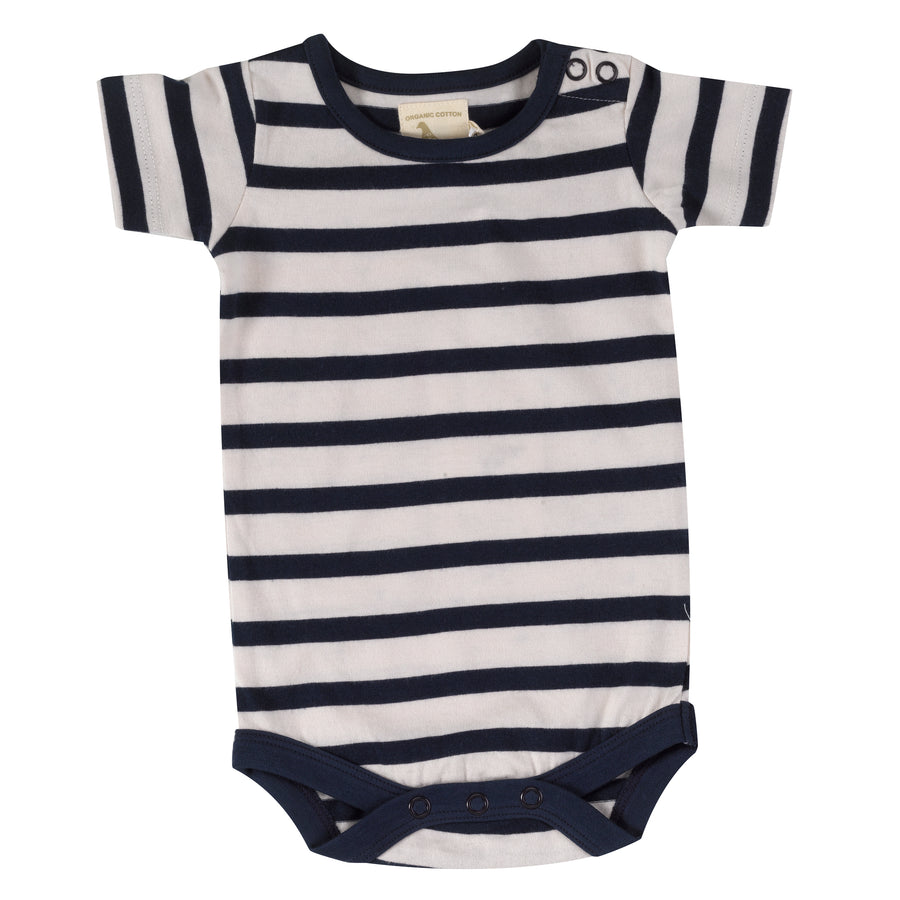 Summer body in navy breton stripe